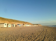 Texel island, the North Sea beach