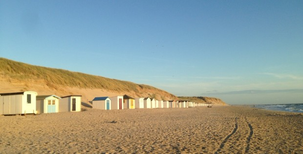 Texel island, the North Sea beach