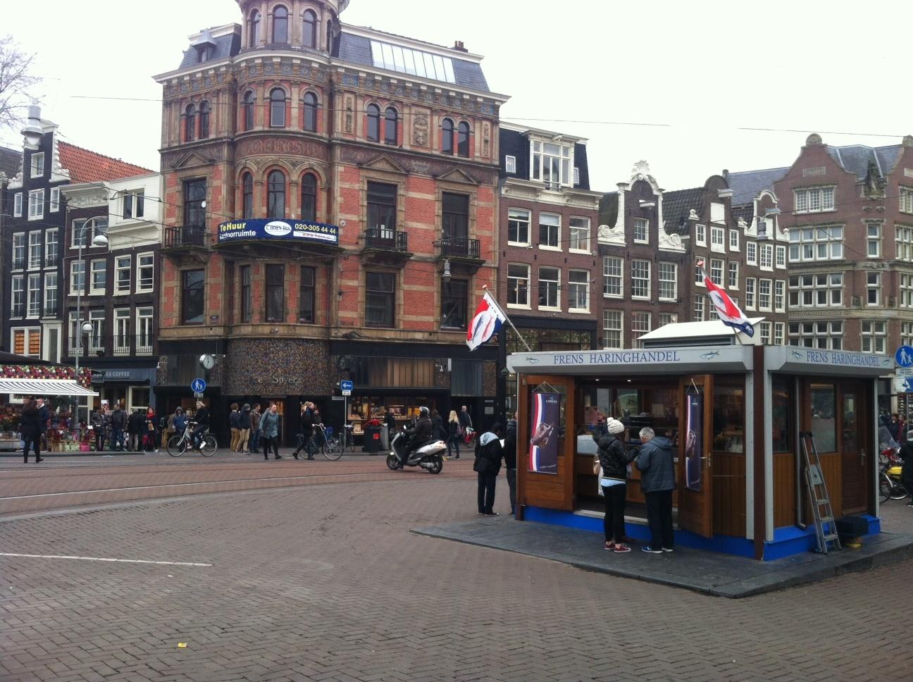 Frens Haringhandel. Singel 468/ Koningsplein (near Flower Market)