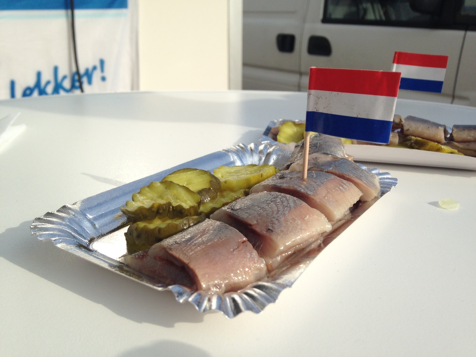 Where to eat Dutch herring in Amsterdam?