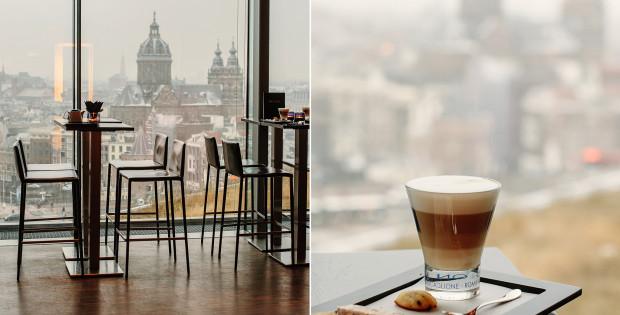SkyLounge Amsterdam coffee
