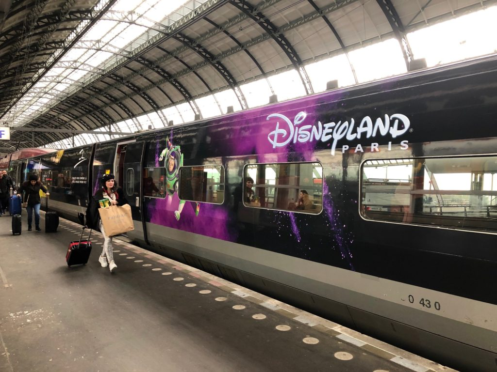 Thalys train from Amsterdam Centraal to Disneyland Paris