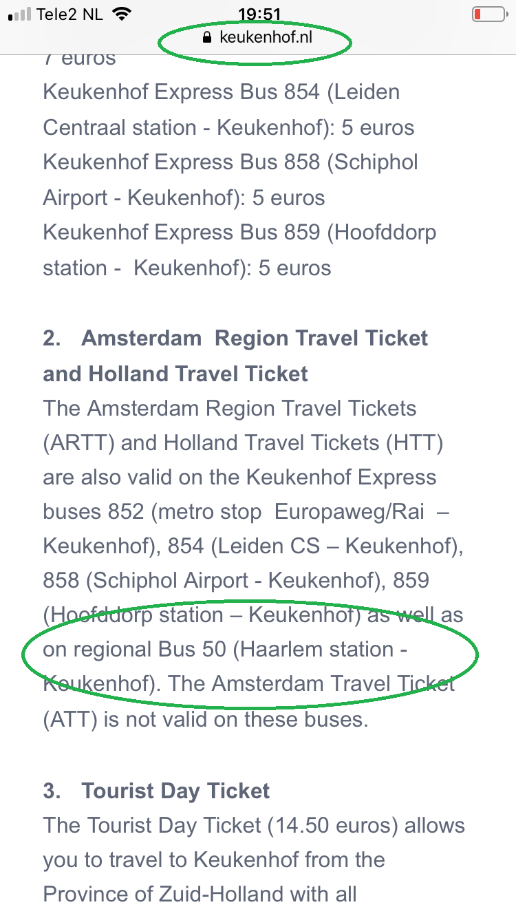 Amsterdam & Region Travel Ticket, Keukenhof