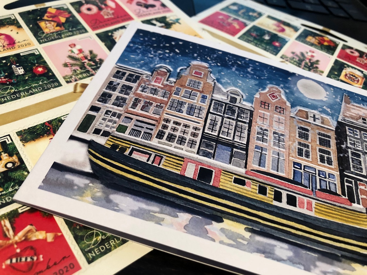 Christmas Card Amsterdam The Netherlands, Kerstkaarten